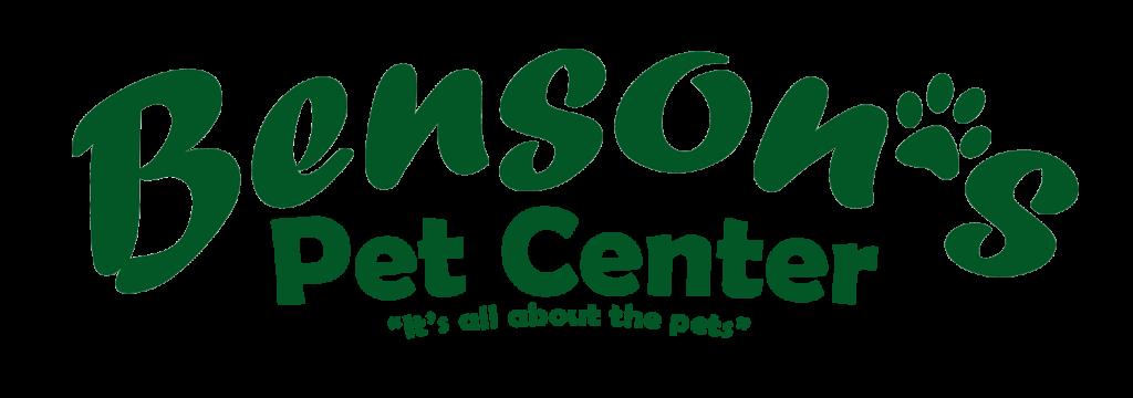 Benson's Pet Center logo in green